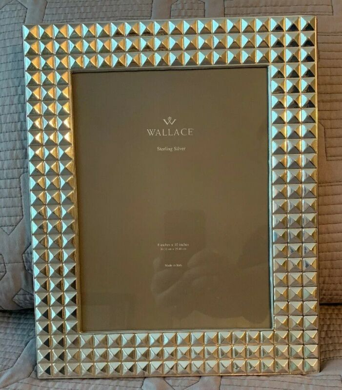 VINTAGE STERLING SILVER WALLACE PICTURE FRAME HOLDS 8x10 PHOTO UNIQUE HUGE WIDE