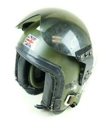 Original British RAF MK3 Flight Helmet Size S/M Green 1980s-1990s