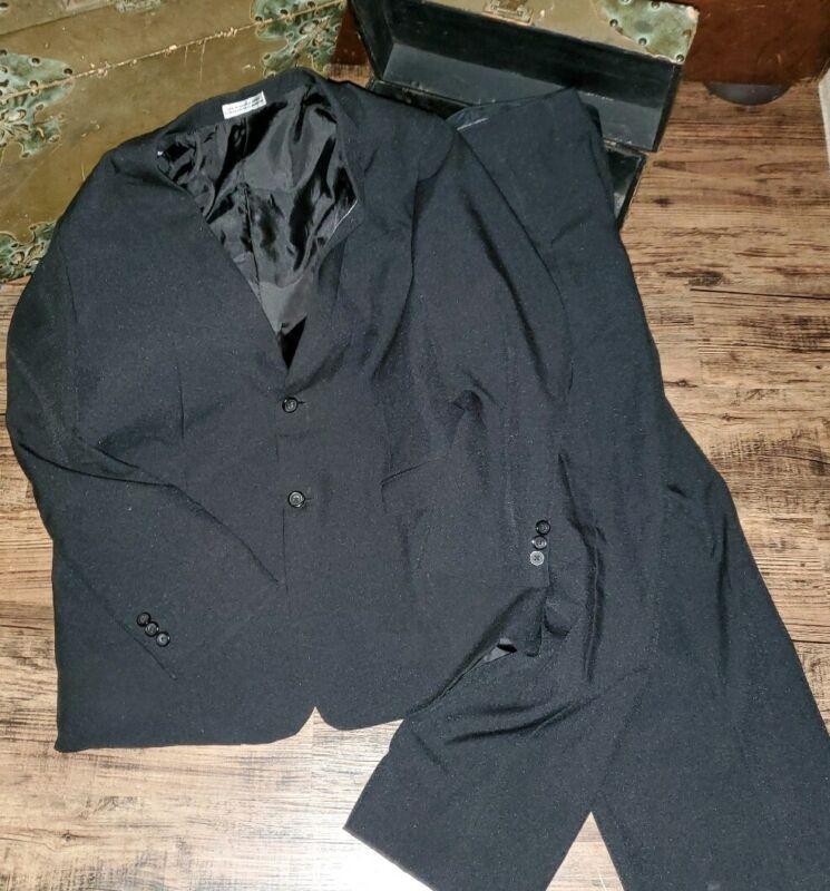 Geoffrey Beene Black Suit Blazer Dress Pants Size 20 Husky *