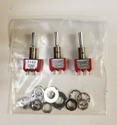 Lot Of 3 Ck 7103p3yzqe 5 Amp 120 Volt Micro Toggle Switch On-off-on Spdt