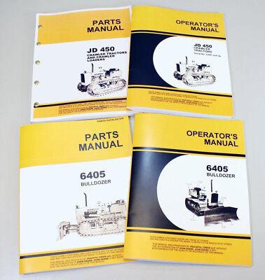 Operator Parts Manuals For John Deere 450 Crawler 6405 Bulldozer Tractor Dozer