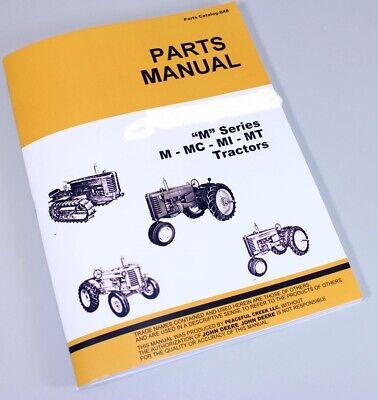 Parts Manual For John Deere M Mc Mi Mt Tractor Crawler Catalog Exploded Views
