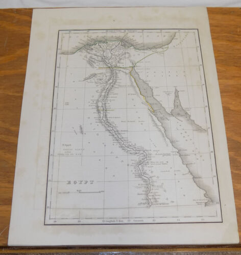 Early 1800s Antique Map /// EGYPT