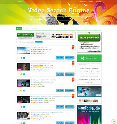 Music And Video Search Engine Website Free Hosting And Installation