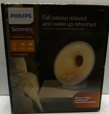 Philips Somneo Sleep & Wake-Up Light w/ RelaxBreathe HF3650/60 BRAND NEW