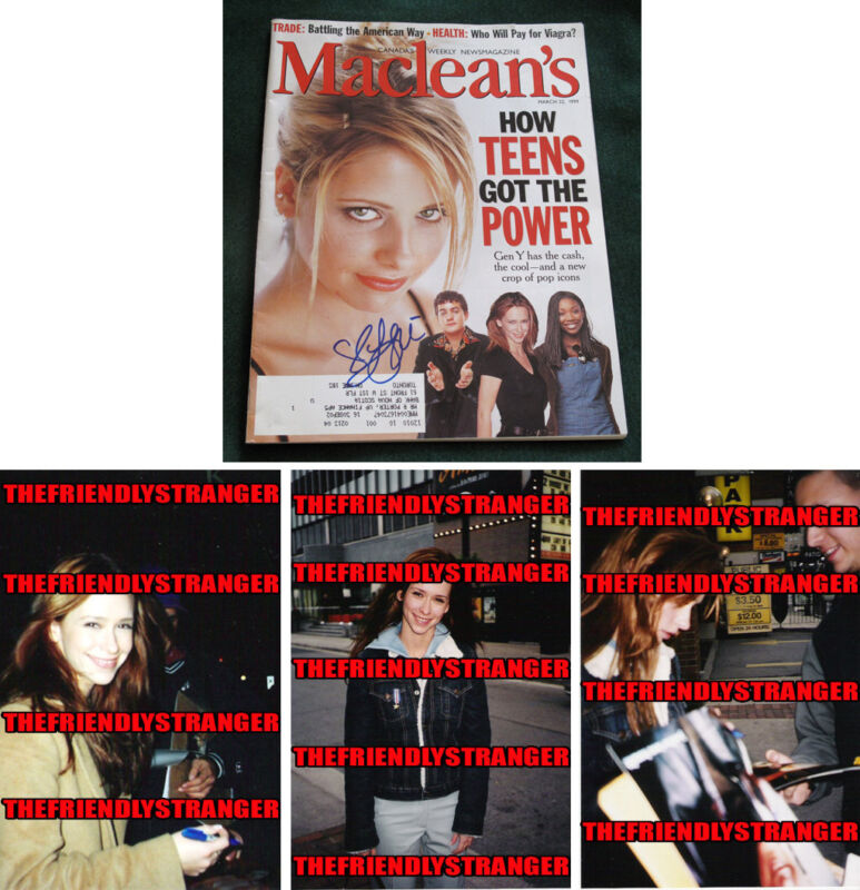 "JENNIFER LOVE HEWITT signed Autographed ""MACLEAN'S"" MAGAZINE - PROOF - 9-1-1 COA"