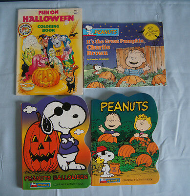 4 Halloween coloring activity books 35th anniversary Great Pumpkin Peanuts](Halloween Activity Books)