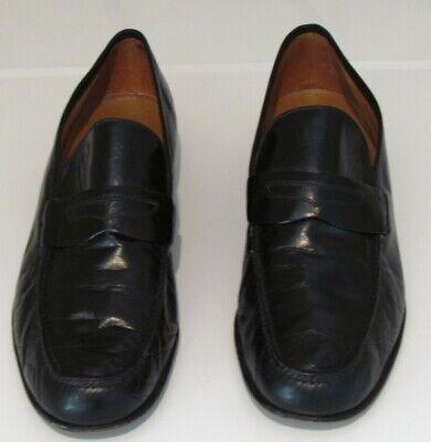 Vintage Gucci Leather Black Loafers Men's Italian Shoes Size 10.5 Eu 44 1/2