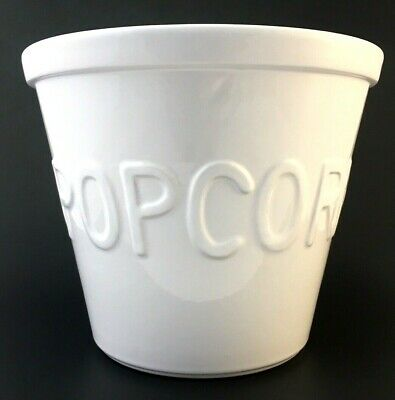 Ceramic Popcorn Bowl (Crate & Barrel Popcorn Serving Bowl Ceramic Porcelain White - Large 9