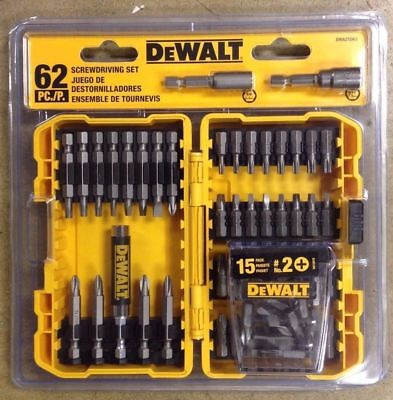 Brand New DeWalt 62 Pc. Screwdriver Set Professional Best Tool Model: DWA2SD62