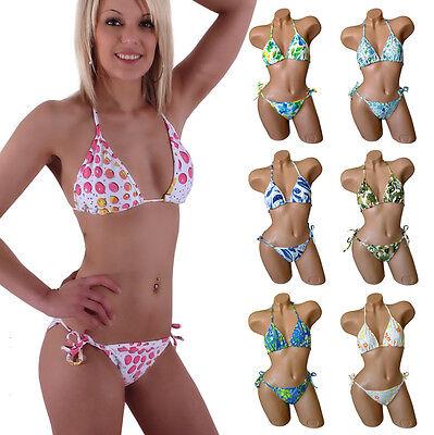 Sexy Bikini Strass Badeanzug Triangel Bademode Neckholder Strasssteine Beachwear