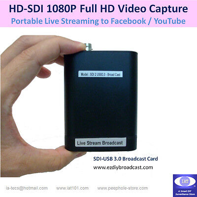 3G-SDI / HD-SDI to USB Video Capture Card for Facebook YouTube Live Streaming