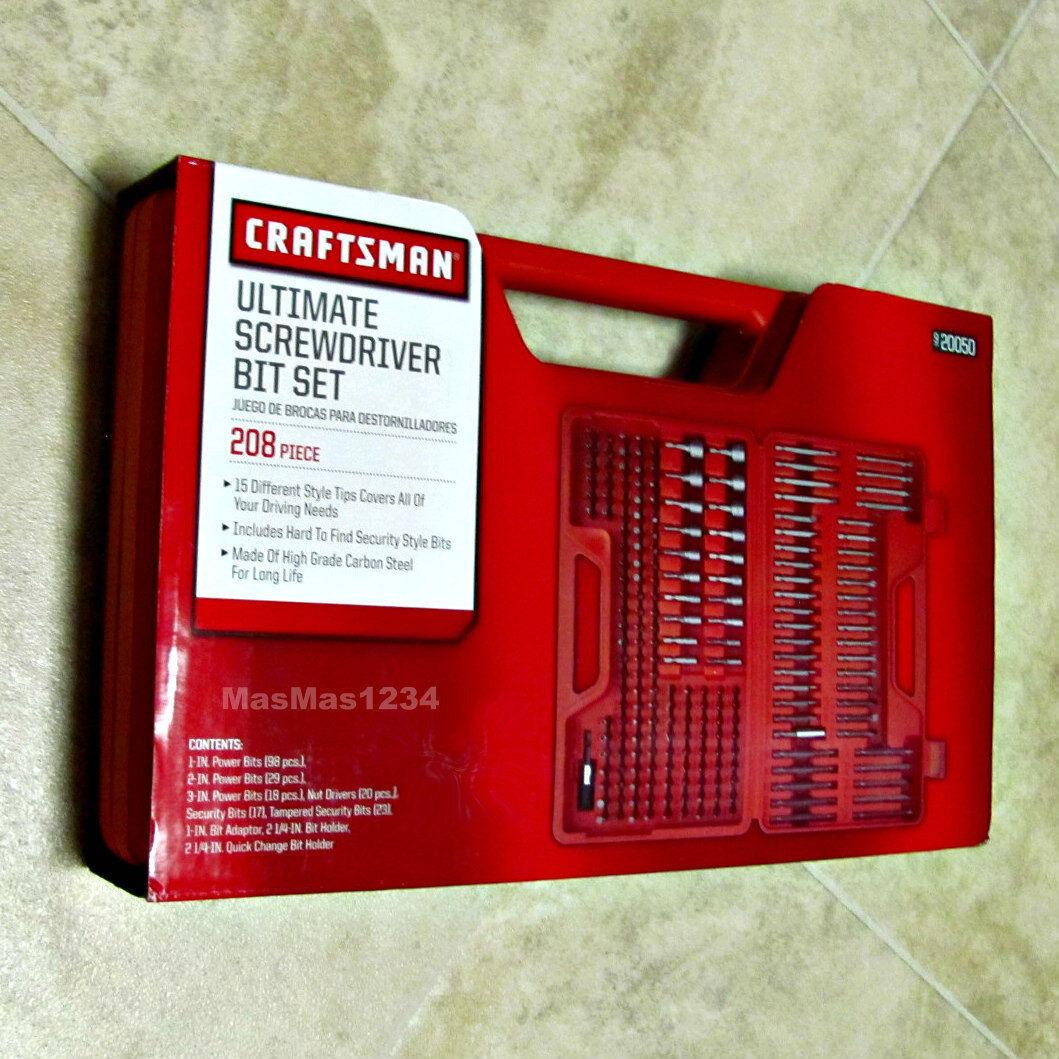 craftsman ultimate screwdriver bit set 208 piece brand new case included ebay. Black Bedroom Furniture Sets. Home Design Ideas