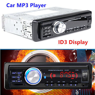 1x Bluetooth 1Din Car Truck Audio Stereo MP3 Player AUX Remote Control FM/USB/SD Mp3 Player Tempo Control