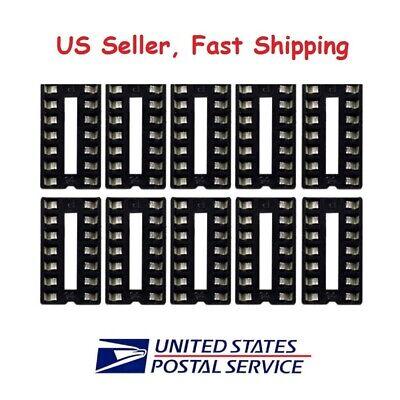 10 X 14 Pin Dip Ic Sockets Adaptor Solder Type Socket - Us Seller Fast Shipping
