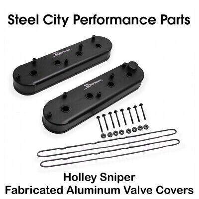 Holley Sniper Fabricated Aluminum LS Valve Covers W/ Gaskets & Bolts - 890014B