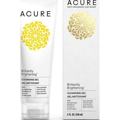 Acure Brilliantly Brightening Superfruit & Chlorella Facial Cleansing Gel, 4 Oz