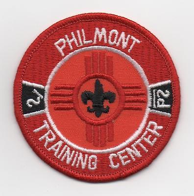 """Philmont Training Center 3"""" Patch, Clear Plastic Back, Mint!"""