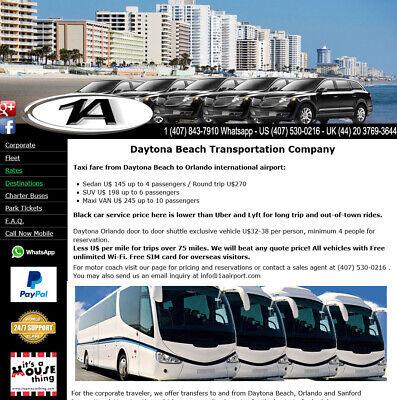 28d34f439b Daytona Beach taxi to Orlando airport MCO, Sedan, SUV, Transit Van and  Minibus