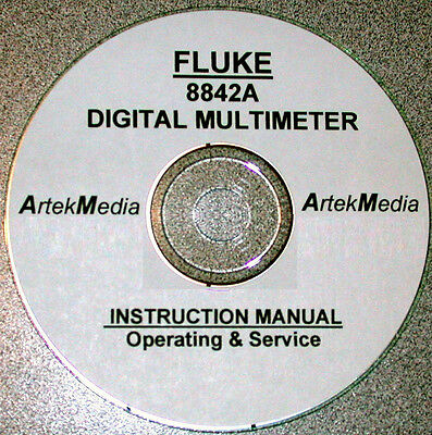 Fluke 8842a Digital Multimeter Instruction Service Operating Manual