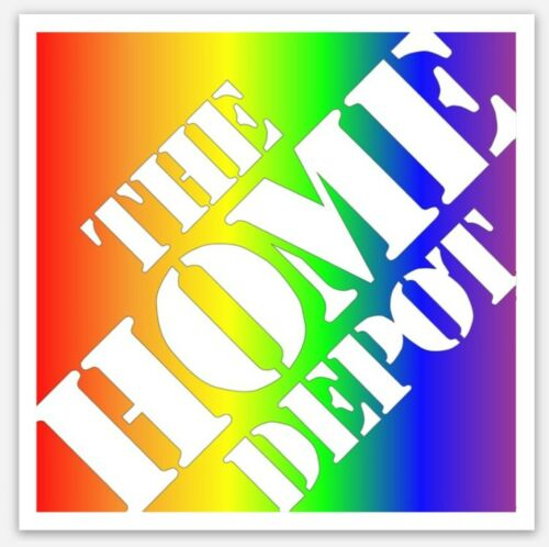 """Home Depot Sticker: Pride, LGTBQ, Rainbow, 3"""" Square (patch, pin, swag, badge)"""