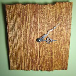 CARVED WOODEN WALL CLOCK DRIFTWOOD CABIN WOODS RUSTIC