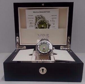 Men's YES Zulu Solunar Ti Wrist Watch in BOX with Papers & Accessories New