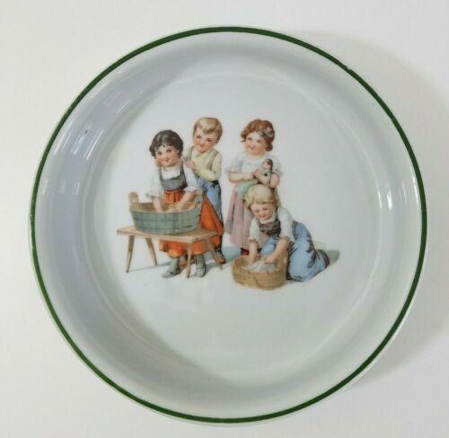 Vintage German Childs Bowl Porcelain Washing Laundry