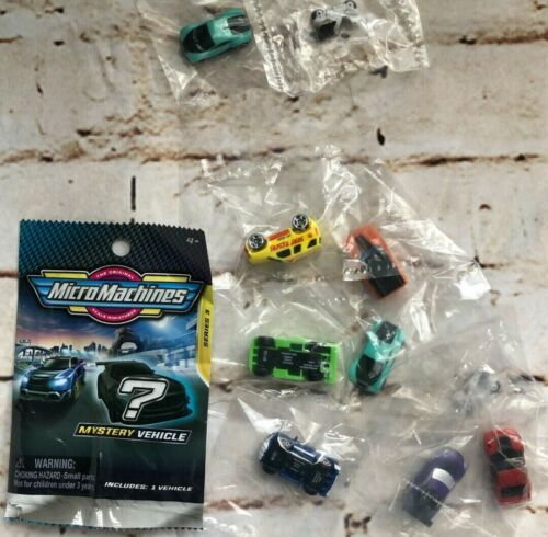 2021 Micro Machines Blind Bag series 3 - Lot of 10 NON-Blind Unique Cars - NEW