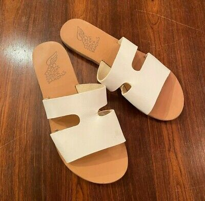 Ancient Greek Flat Sandals 'Apteros' White Size 39