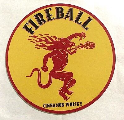 "Fireball Cinnamon Whisky 7"" Round Metal Sign"