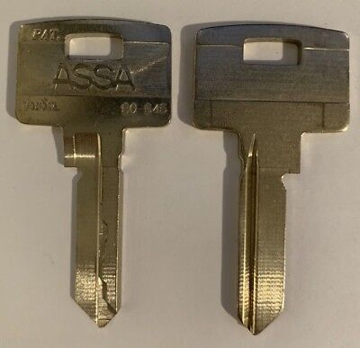 Assa Twin Series 1a50-545 Uncut Key Blanks Fits Assa Oem Qty 2