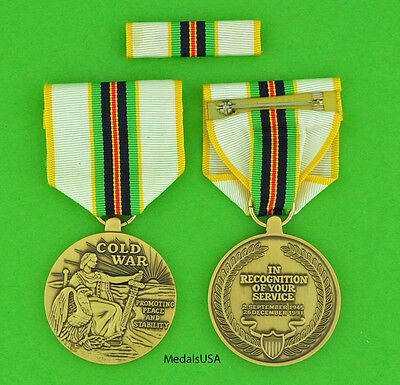 COLD WAR VICTORY MEDAL & RIBBON  BAR for Veterans serving between 1946 & 1991