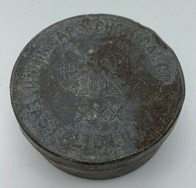 Rare! Antique Union Cap and Chemical Co Blasting Cap Tin Box, Vintage Mining Tin