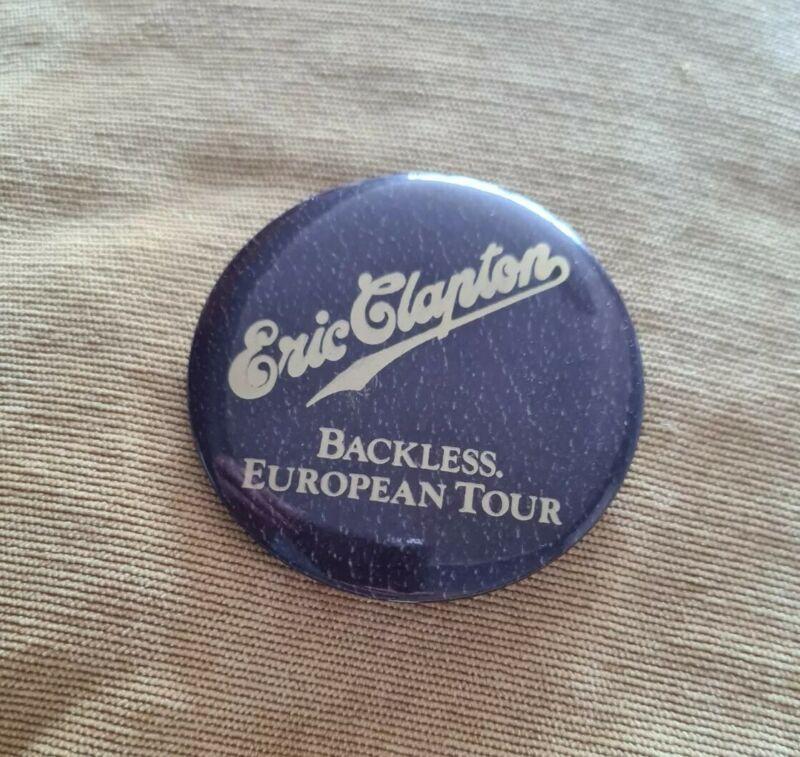 ERIC CLAPTON - Backless Tour 1978 - Old OG Vintage Large 1970s Button Pin Badge