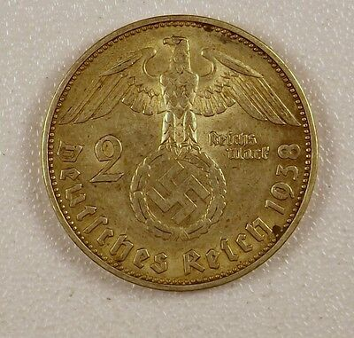 1938 - 2 Mark Silver Coin from Germany