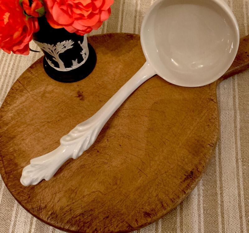 Antique White Ironstone Ladle Spoon
