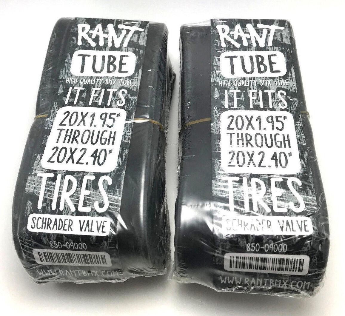 """2 x RANT BMX BICYCLE TUBES 20"""" x 1.95 2.20 2.25 2.3 2.35 2.4"""