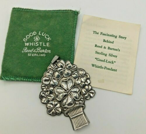 Vintage Reed & Barton Sterling Silver Good Luck Whistle