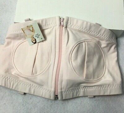 Lansinoh, Simple Wishes Hands Free Pumping Bra,Neutral Pink, L To Plus New