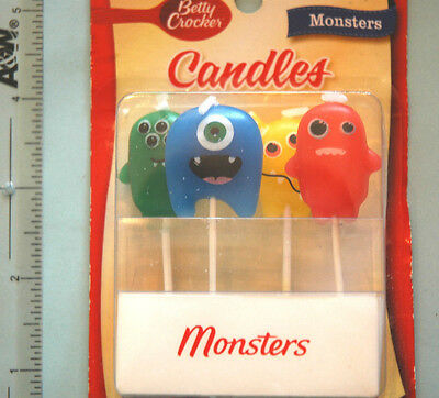 Cake Mate Monsters Candles Party Cup Cake Candle Monster Minions Halloween New](Halloween Cup Cake)