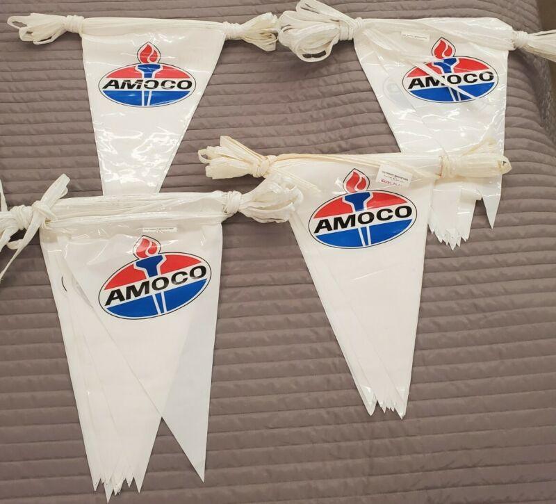 Vintage AMOCO Pendant Flag Streamers Plastic Collectible Oil/ Gas Advertising JA