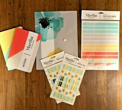 Martha Stewart Office Supply Lot Journal Pocket Tabs Labels