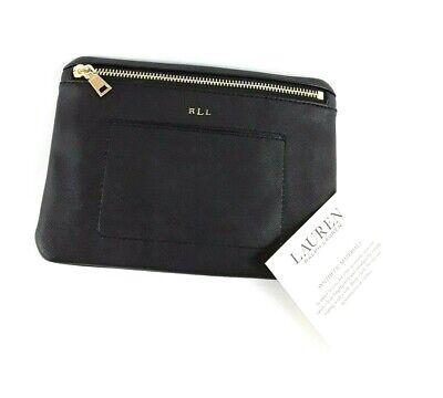 Ralph Lauren Winston Black Faux Leather Waist Belt Bag Fanny Pack Without Belt Winston Black Leather