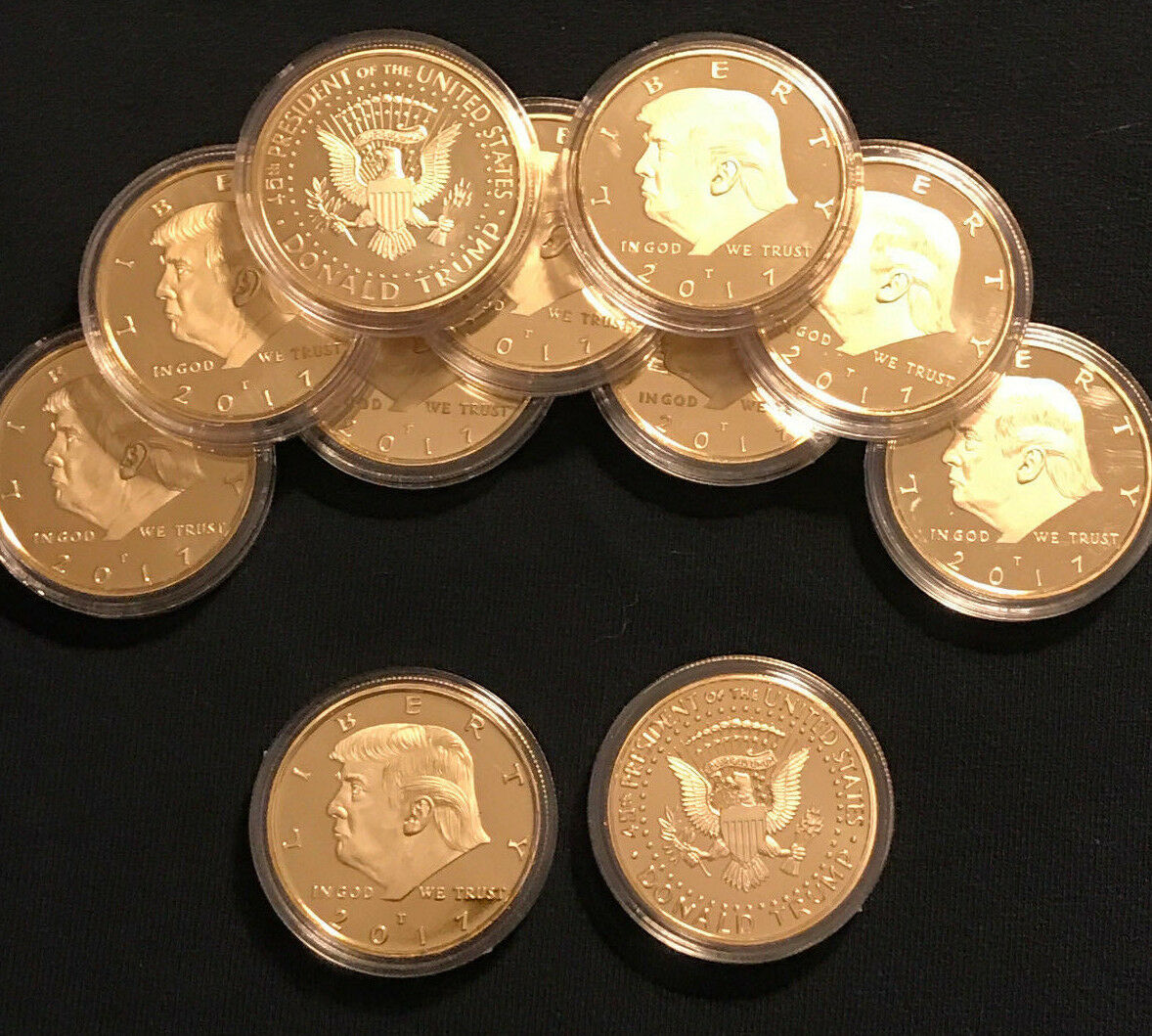 🔥 2018 President Donald Trump 24k Gold Plated EAGLE Commemorative Coin 🔥