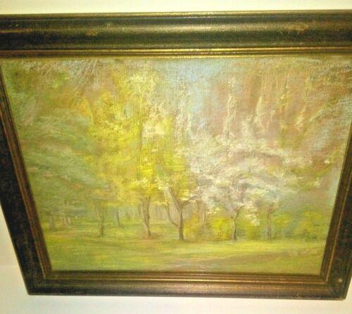 Walter Emerson Baum Impressionist Painting Pastel Landscape Spring Forest