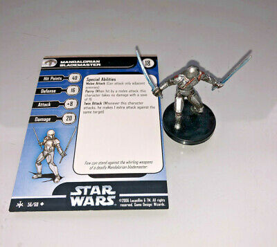 Star Wars Miniatures Bounty Hunters MANDALORIAN BLADEMASTER #56