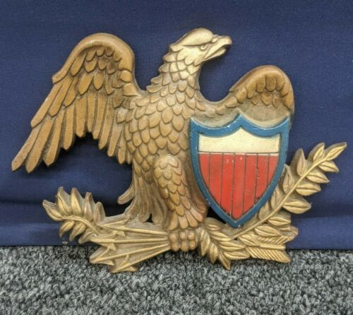 Sexton Wall Plate Bald Eagle American Hang Plaque Cast Alloy Metal USA Vintage