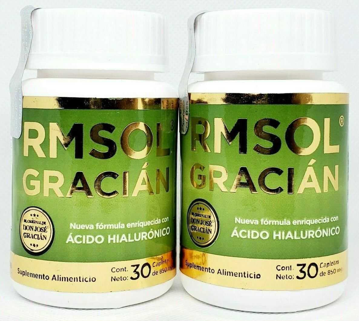 2 Pack RMSOL Gracian Original Acido Hialuronico Curcuma shark cartilage turmeric
