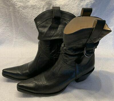 Damen Cowboystiefel - Western Boots - Schwarz - - Schwarze Western Stiefel